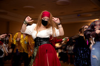 Student dresses as a pirate at the Halloween Bash.