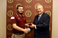 University of Louisiana at Monroe Fall 2016 graduates receive their rings during the Ring Ceremony Friday, December 9, 2016, at ULM's Alumni Center. Photos by Emerald McIntyre/ULM Photo Services