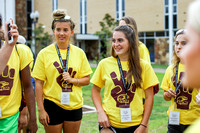 Incoming freshmen show off their warhawk pride in The PREP Spirit Competition in The Quad on Thursday, June 28, 2017.